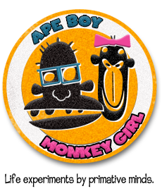 ape boy monkey girl
